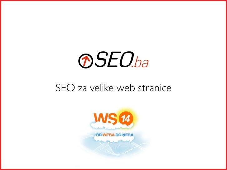 SEO za velike web stranice