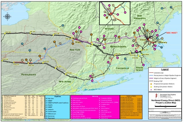 New Proposed Pipeline Route for Kinder Morgan Northeast