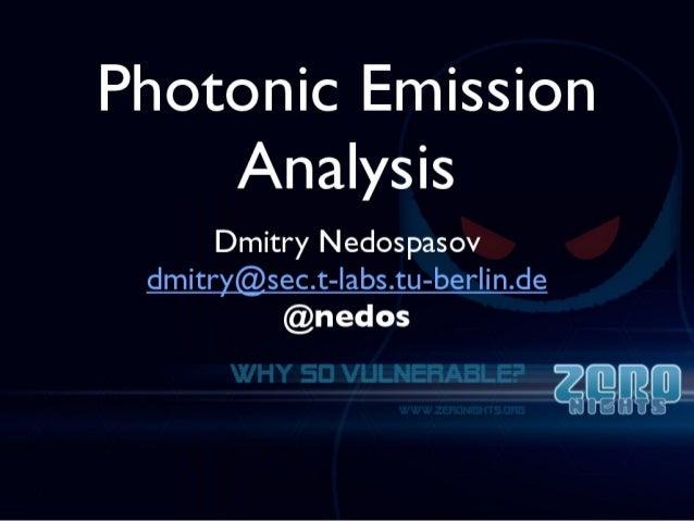 Nedospasov   photonic emission analysis