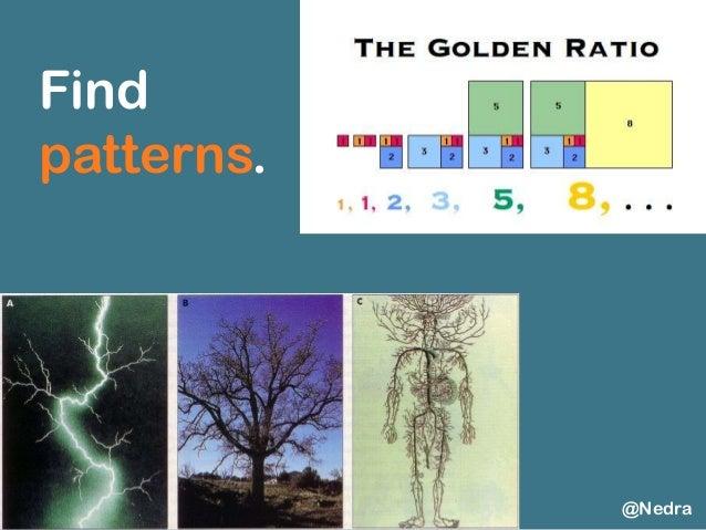 Find patterns. @Nedra