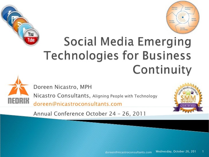 Doreen Nicastro, MPH Nicastro Consultants,  Aligning People with Technology [email_address]   Annual Conference October 24...