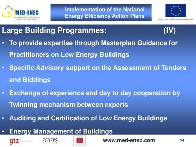 Day 2 MED-ENEC's concept to support the development of ...