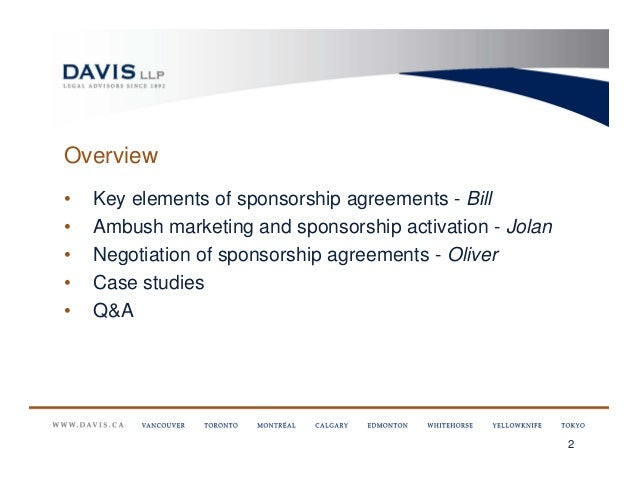 The Need to Know Legalities of Marketing Sponsorships