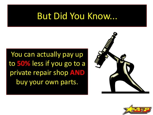 Bring Your Own Parts Auto Repair >> Need A Car Repair Tips On How To Help Save You Money