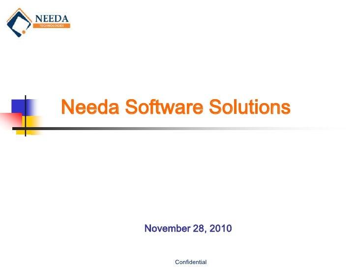 Needa Software Solutions        November 28, 2010             Confidential