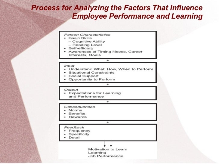 Process for Analyzing the Factors That Influence           Employee Performance and Learning