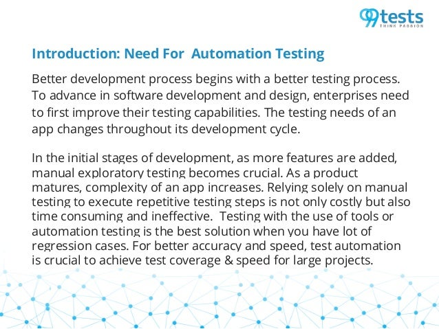 Need for automation testing Slide 2