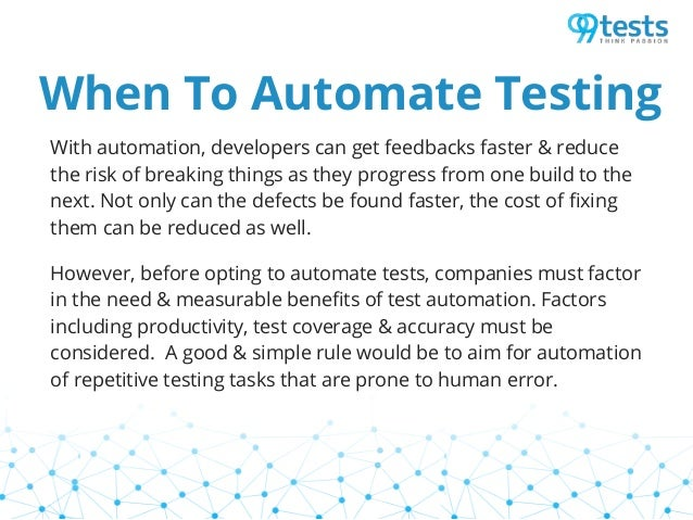 Need for automation testing Slide 3