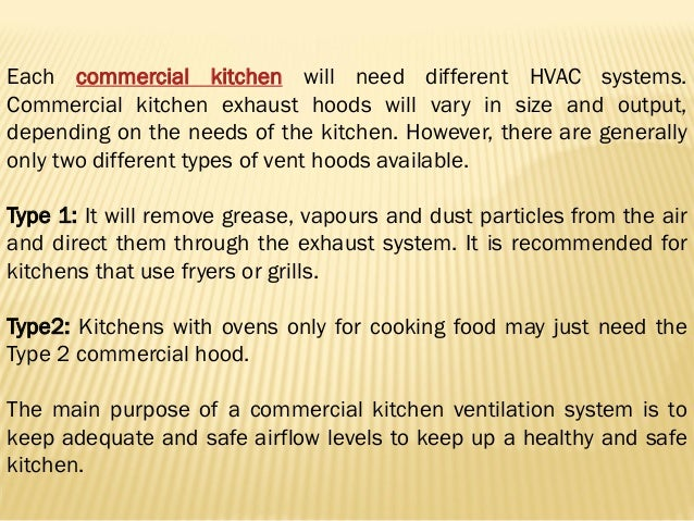 Type 2 Exhaust Hoods ~ Need for commercial kitchen exhaust systems and smog hog