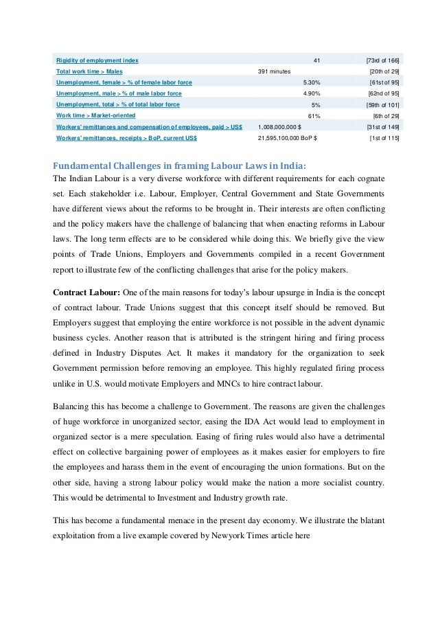 need for labour reforms in india Legal alert rising tide of labour reforms in india by sunil kumar there is  in india today a rising tide of expectancy that government, both federal and and.