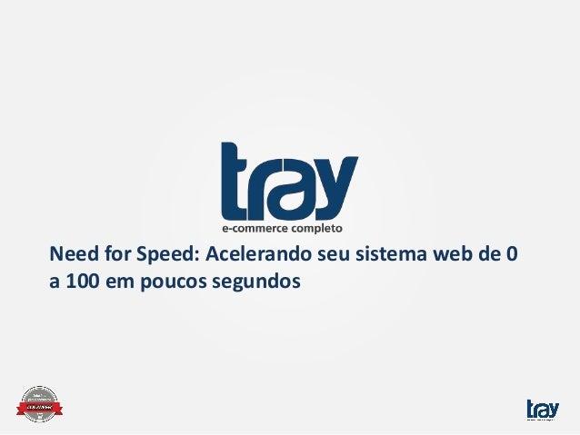 Need for Speed: Acelerando seu sistema web de 0 a 100 em poucos segundos