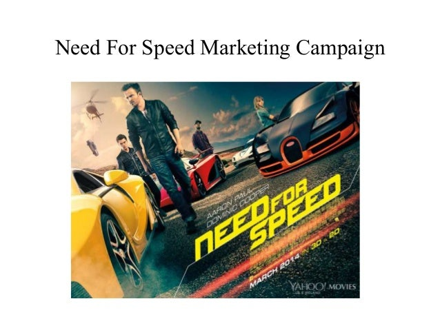 Need For Speed Marketing Campaign
