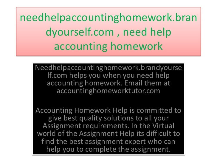 Get Accounting Assignment Help Free