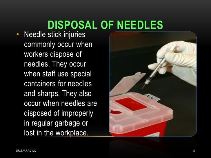 needle stick injury Needle stick injury causes and prevention information | myvmc needlestick injuries are common and concerning accidents for healthcare professionals, as needlesticks may.