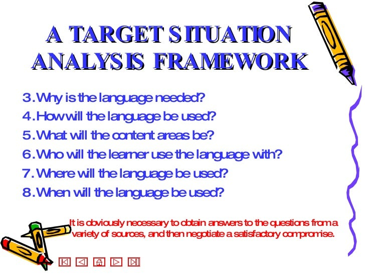 situational analysis questions