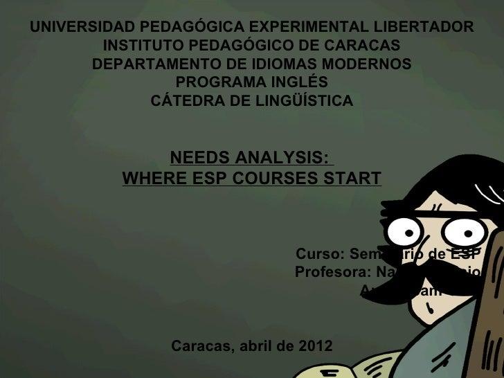 UNIVERSIDAD PEDAGÓGICA EXPERIMENTAL LIBERTADOR        INSTITUTO PEDAGÓGICO DE CARACAS      DEPARTAMENTO DE IDIOMAS MODERNO...
