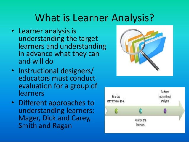 Needs Analysis Task Analysis