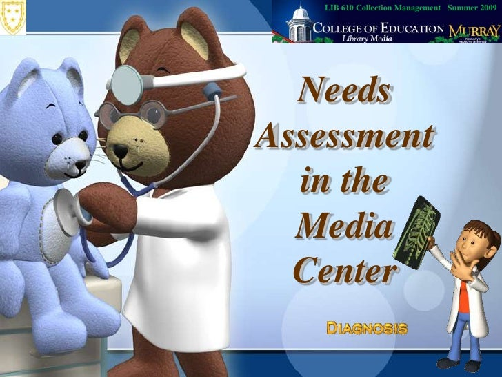 LIB 610 Collection Management   Summer 2009<br />Needs Assessment in the Media Center<br />