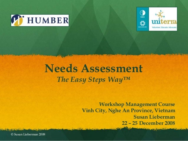 Needs Assessment                         The Easy Steps Way™                                     Workshop Management Cours...