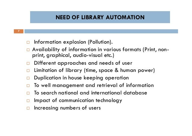 NEED OF LIBRARY AUTOMATION EPUB