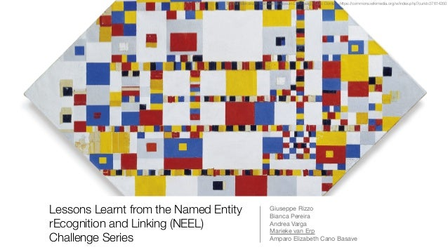 Lessons Learnt from the Named Entity rEcognition and Linking (NEEL) Challenge Series Giuseppe Rizzo  Bianca Pereira  Andre...