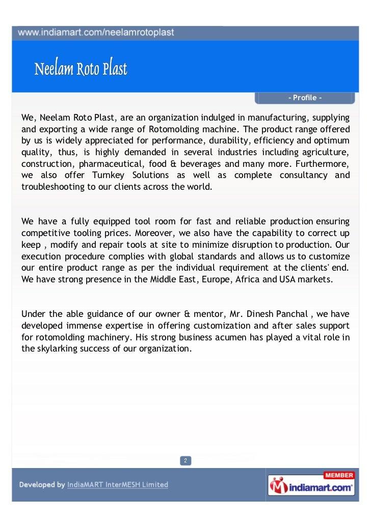 Neelam Roto Plast, Ahmedabad, Extruder Machine Slide 2
