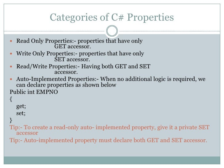 What Are Auto Implemented Properties Private In C