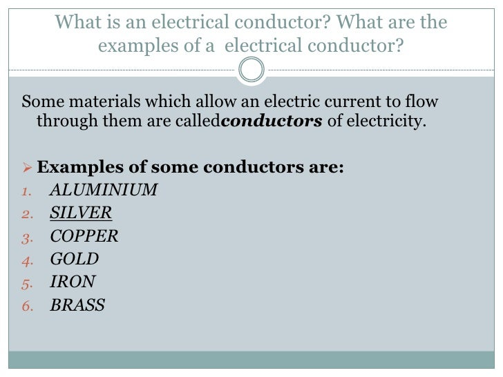 Conductors And Insulators Quiz
