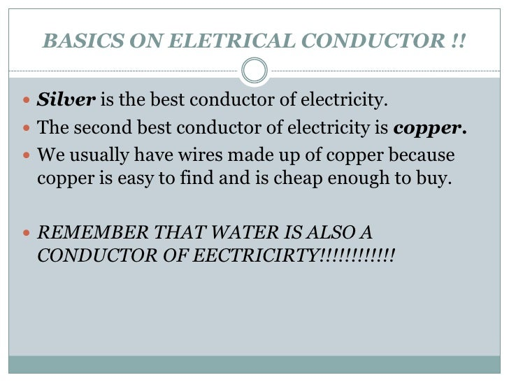 Water As A Conductor : Is water a good conductor of electricity mccnsulting