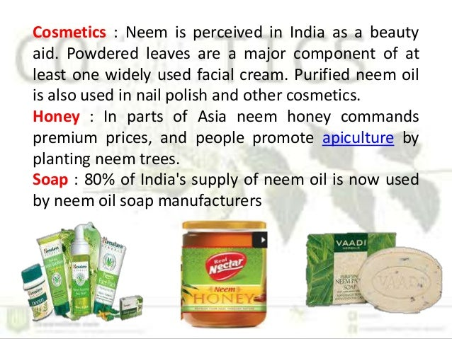 Neem products used in plant protection