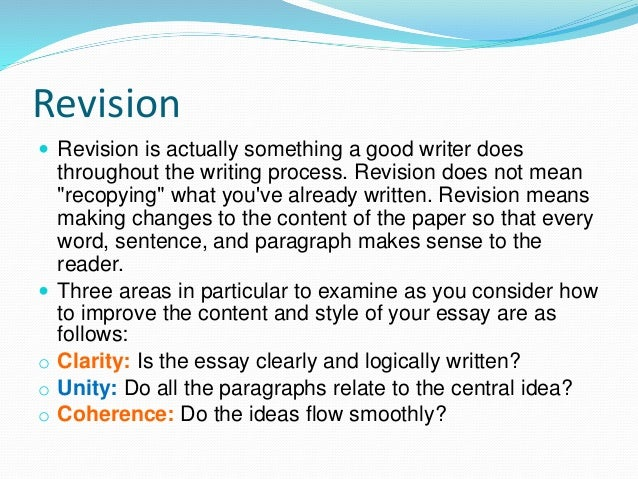 essay revisions