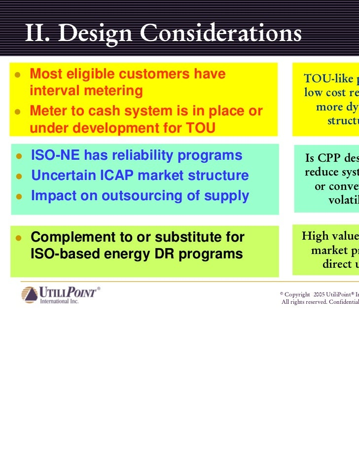 II. Design ConsiderationsMost eligible customers have                   TOU-like plans areinterval metering               ...