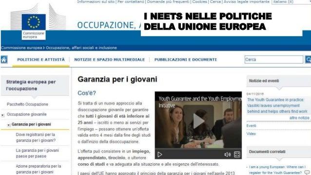@FelicettoMassa I NEETS NELLE POLITICHE DELLA UNIONE EUROPEA