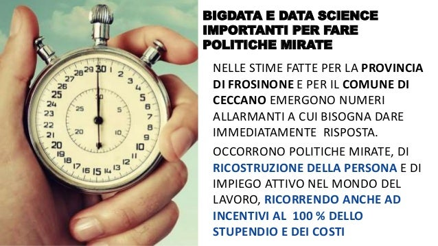 @FelicettoMassa BIGDATA E DATA SCIENCE IMPORTANTI PER FARE POLITICHE MIRATE NELLE STIME FATTE PER LA PROVINCIA DI FROSINON...