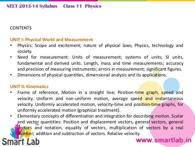 NEET Syllabus 2013-14