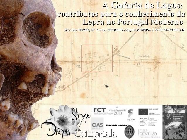 A Gafaria de Lagos:contributos para o conhecimento da       Lepra no Portugal Moderno Mª João NEVES, Mª Teresa FERREIRA, M...