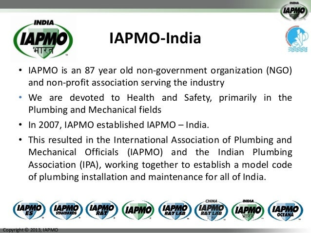 Uniform Plumbing Codes Water Use Efficiencyneeta Sharma2013