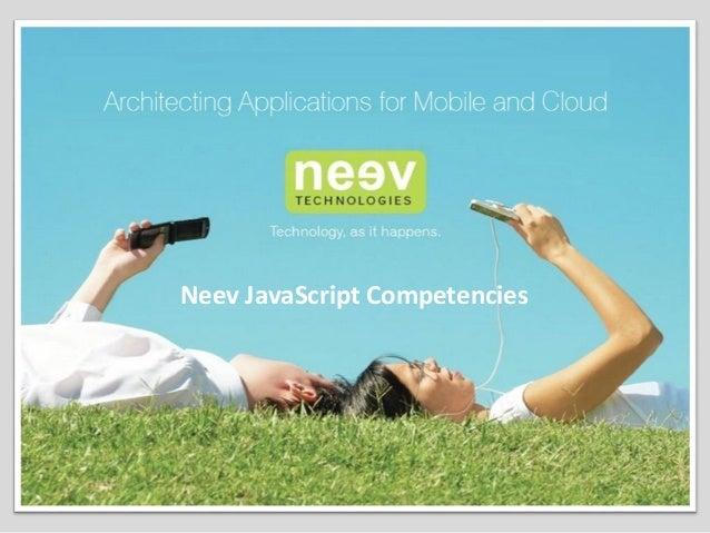 Neev JavaScript Competencies
