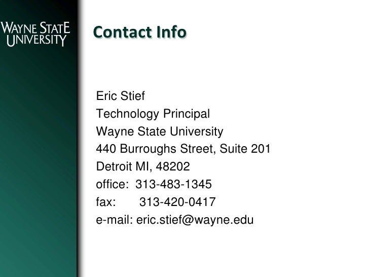 October 2010 - Michigan Energy Forum - Eric Steif