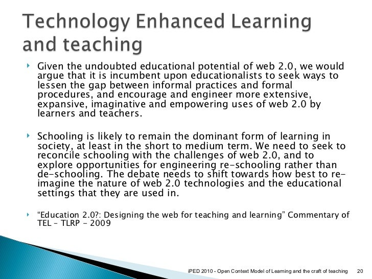 ... Learning and the craft of teaching; 20.