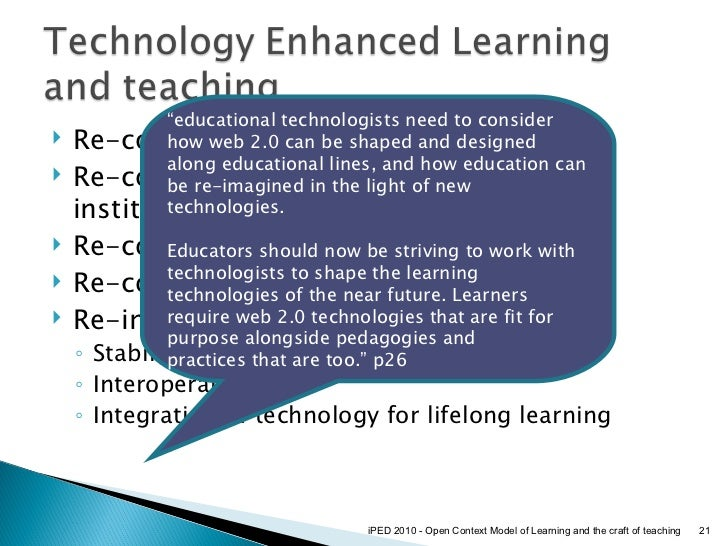 ... Learning and the craft of teaching; 21.