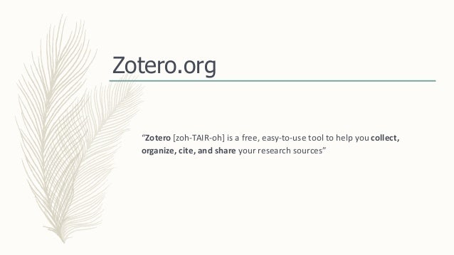 NEFLIN: Organizing Your Data: Zotero, Evernote and other tools to Organize Research Slide 3