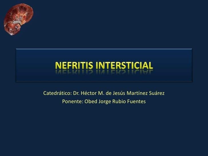 Catedrático: Dr. Héctor M. de Jesús Martínez Suárez        Ponente: Obed Jorge Rubio Fuentes