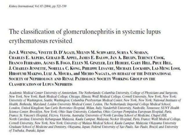 Nefritis lupica   belimumab y estadios