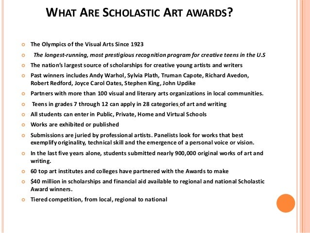 Creative writing college scholarships 2014