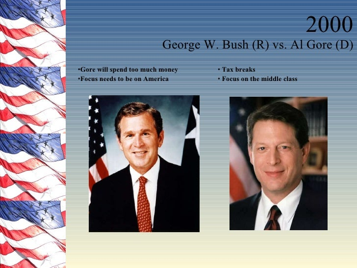 a comparison of bush and gore Bush v gore, 2000 the issue at stake was a controversial recount in the 2000  us presidential election and, ultimately, which candidate would become.