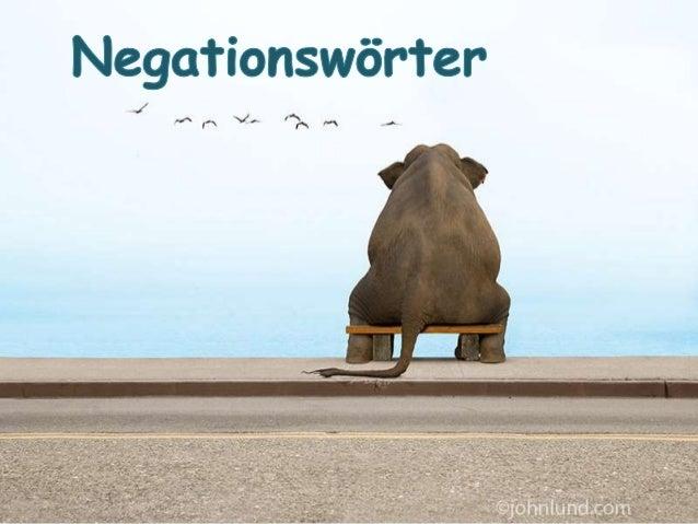 Andere Negationswörter