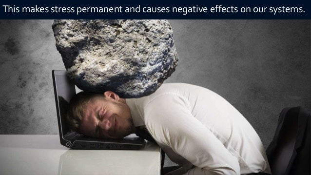 stress and negativity in our human How do you tell the difference between good stress and avoid or change some of the situations that create negative stress check out our article in managing.