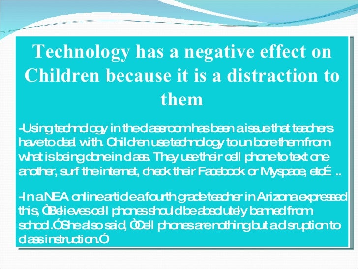 negative effects of technology on academic performance Technology has been found to have its negative impact on academic performance on most of children impact of technology on children essay.