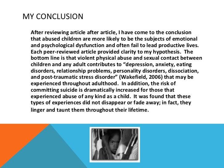 Persuasive essay on child abuse